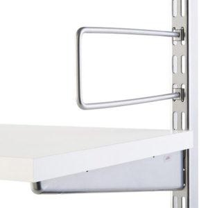 Buchstütze 200mm für Wandleiste/Hängeschiene vernickelt